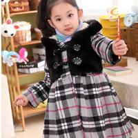 Children's clothing  2014 autumn new sweet girl coat  size 110-150cm