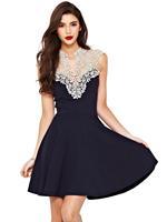 014 The women's new white lace dress elegant dress bandage mini bodycon dress frozen dress elsa dress