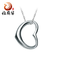 Ya Lihua Han Guoyin jewelry small heart Silver 925 sterling silver necklace wholesale containing chain