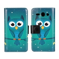 2014 New Cartoon Owl Wallet Leather Case for Huawei Ascend Y530 Phone Cases with Stand & Card Slots