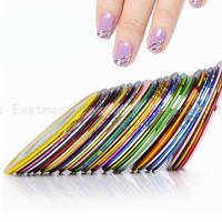 15 colors/lot Rolls Striping Tape Line Painting Line Nail Sticker Nail DIY Kit Gel Tips Nail Art