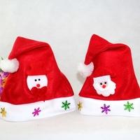 200pcs/lot 2014 Christmas Decoration children Christmas Hats Santa Claus Hats Xmas Cap Gift free shipping