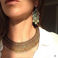 Fashion Vintage Christmas gift Jewelry Hyperbole rivets pendant Statement Necklaces for women Factory direct wholesale JZ111015