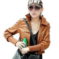 Jaqueta De Couro Feminina Autumn Novelty Zipper Faux Leather Jacket Women Cardigans Suede Streetwear Short Coat 9695