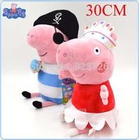 30CM 2 pcs/ Peppa Pig Family Plush Toy Set Ballet Peppa Pirate George Pig Stuffed Animals Dolls Baby Toys Pepa Brinquedos
