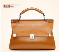 2014 new leather OL career business in Europe and America retro leather handbags handbag premium women's fashion bags