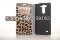 Leopard Print Flip Leather Case For LG G3 mini D722 D725 D728 D724 Case With Card slots phone bag Case