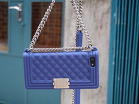 New Luxury Fashion Brand Bag Design Silicone Case With Chain Handbag Purse for iPhone 6 Plus, Free Shipping