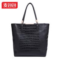 D for ud u2014 leather fashion bag for Crocodile genuine leather bag shoulder bag handbag women's
