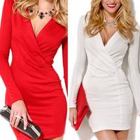 014 The elegant V collar irregular pencil dress bandage mini bodycon dress frozen dress elsa dress