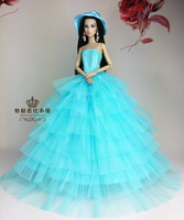 For Barbie dolls clothes , skirts, Blue wedding, For Barbie doll accessories, Noble dress/ gift