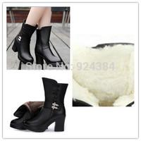 bottes femmes 2014  genuine leather ladies boots,  bottine femme ,woman winter shoes  furry boots  emu aisimi