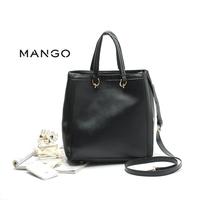 new mango bag Black bag portable oblique cross grain shape female package  European and American Style business woman hangdbag