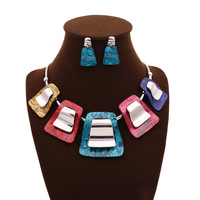 Fashion fashion necklace luxury multicolour accessories necklace ball necklace stud earring set