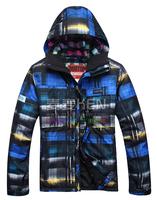 Free Shipping 2014 new men's jackets Bur for ton ski suit male ski suit waterproof thermal ski suit monoboard ski suit