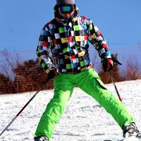 Free SHIPPING 2014 NEW MEN'S JACKETS HOT HIGHT QUIKILY Ski suit male gsou snow ski suit waterproof ski suit monoboard ski suit