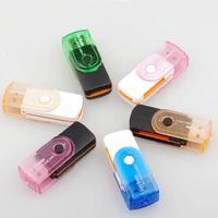 ALL IN 1 USB STICK MULTI MEMORY CARD READER SD MINI SDHC MS MIRO M2 TF MMC Free Shipping L0192590