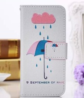 Cute Cartoon Painting Wallet PU Leather Magnetic Case Stand Flip Cover Card Wallet Pouch For iPhone 6 plus 5.5''