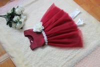 New girls party dress baby girls beautiful Christmas red party dress baby girls tutu vest dress 6pcs/lot
