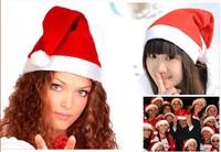 200pcs/lot 2014 Christmas Decoration Adult Red Christmas Hats Santa Claus Hats Xmas Cap Gift free shipping