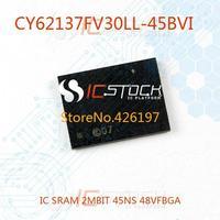 CY62137FV30LL-45BVI IC SRAM 2MBIT 45NS 48VFBGA 62137 CY62137FV30LL 3pcs