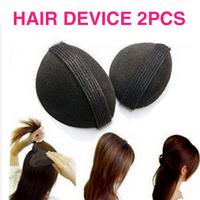 Hot 2 PCS Hairdressing Tool Princess Style Hair Heighten Device Bulkness Sponge Hair Maker Pad DGFS2003