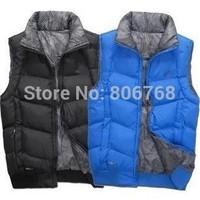 new large size men's cotton vest thick coat male sport coat cold winter coat fashion coat Free Shipping