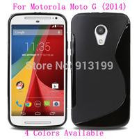 10Pcs/lot S Line Soft Gel TPU Silicone Case Skin Cover Back for Motorola Moto G2 (2014) / G+1 / G (2nd Gen) xt1063 XT1068 XT1069