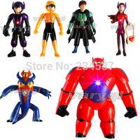 6pcs/set Big Hero 6 Hiro Baymax action figure kid toys Christmas New Year gift
