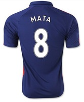 FREE SHIPPING 2014/15 #7 DI MARIA #9 Falcao #10ROONEY #8 MATA Manchester home away soccer football jersey