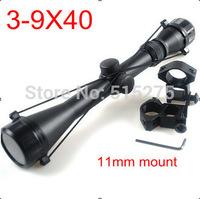 3-9X40 Hunting Mil Dot Air Rifle Gun Outdoor Optics Sniper Deer Hunting Scope Telescopic Sight Riflescope with 11mm rail mount