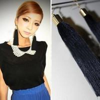 South Korea jewelry wholesale original Stud Earrings Shi Shangfan retro color long Tassel Earrings