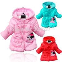 2-5T Girls Kid Princess Minnie Mouse Winter Jacket Hooded Coat Outwear