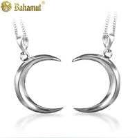 Bahamut 925 silver jewelry  fashion The Faerie Moon Pendants couple's Necklace Free shipping