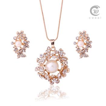 Комплект ювелирных изделий для женщин настоящее кристалл позолоченные ожерелье серьги африканских костюм мода костюм романтический свадебные аксессуары