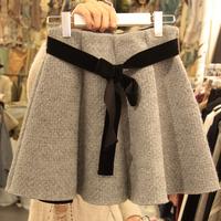 808 2014 women's autumn and winter female woolen pleated short skirt high waist plus size basic wool skirt