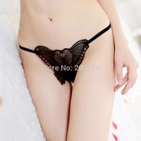 Hot Sale Best Price Lace Sexy G-String Underwear Women Briefs Lover Elastic Open Crotch Panties Butterfly Calcinha Femininas