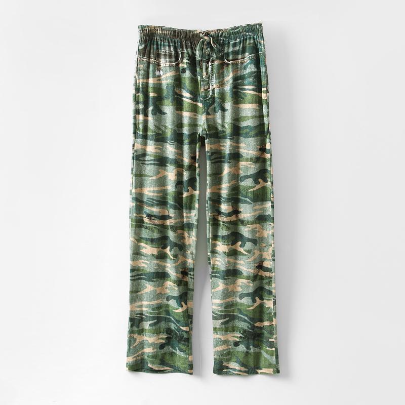 Mens Pajama Pants With Pockets Men Loose Camouflage Pajama Pants Lounge Pants Sleep Pants
