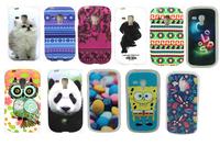 Animal  Cartoon Aztec Tribal Tribe Design Soft  TPU Gel skin Case Cover for Samsung Galaxy S3 Mini I8190 free shipping