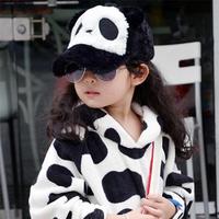 Plush panda baseball cap child hat parent-child cap cotton cloth cap male female child cap