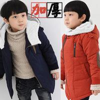 The 2014 SGS certification boy oblique zipper cotton  padded jacket winter children thickened kids jacket