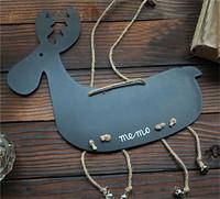1pcs Creative sweet little animals hanging ornaments message board Elk storyboard Work of milu deer JYS18
