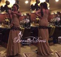 Vestido De Renda One Shoulder New Long Evening Dress Custom Made Floor Length Beaded Dress Evening Party Gown 2014 Prom Dresses