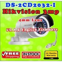 2014 Hikvision Original gun waterproof security network cctv camera DS-2CD2032-I 4mm 3MP IR ip camera bullet mini support POE