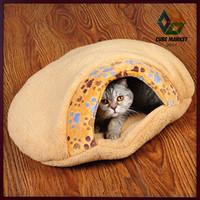 CUBE MARKET PET SHOP humburger deisgn portability sleeping bag bed for cats