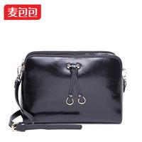 Vintage 2014 oil waxing leather fashion sweet women's cowhide handbag female messenger bag motorcycle bag