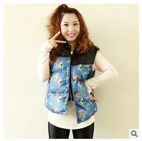2014 new arrival,winter women vest coat,Japanese trade smallish leather vest ladies thick warm down cotton vest,high quality