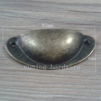 free shipping hot selling good quality bronze color European style shell shape drawer handle semicircle steel material 83*34 mm