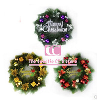 Free Shipping 35cm Christmas Decoration Supplies / Decorative Flowers Wreath Door Hanging /  Wreath Mall Hotel decoration