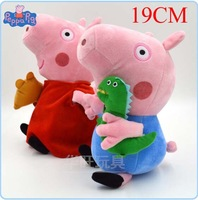 19CM peppa Pig Family Pink Pig Sister Pepe George Plush Toys Doll Cartoon Pig Dolls Birthday Gift Peppa Pig Toys For Children